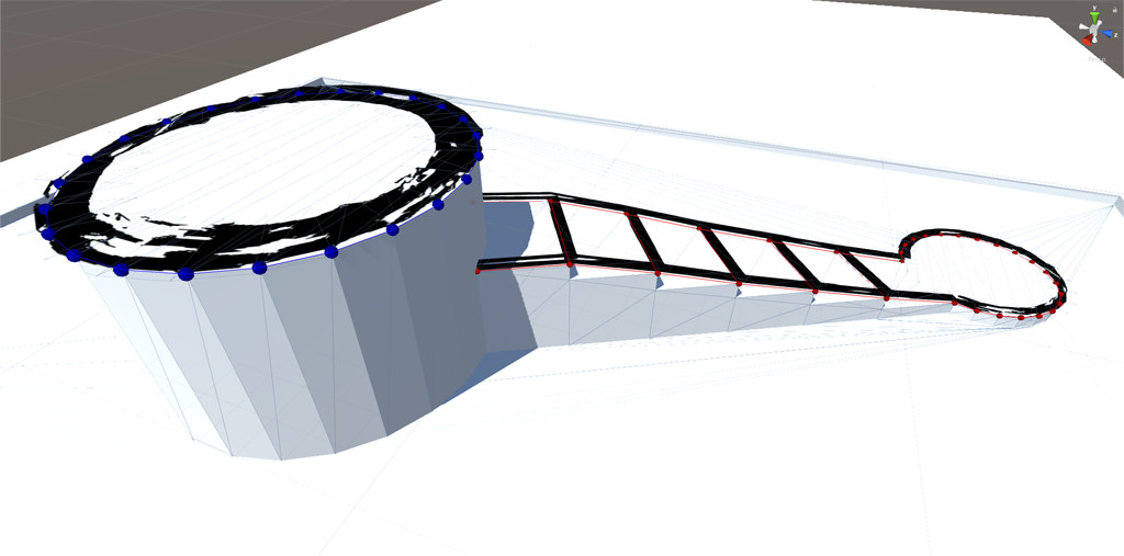 Manually painted outlines on an existing mesh