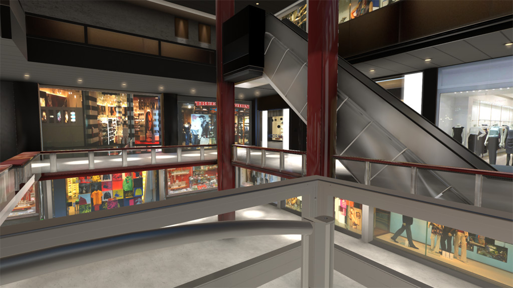 Remodeled mall environment